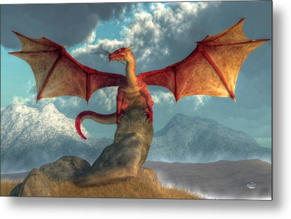 Fire Dragon Metal Print