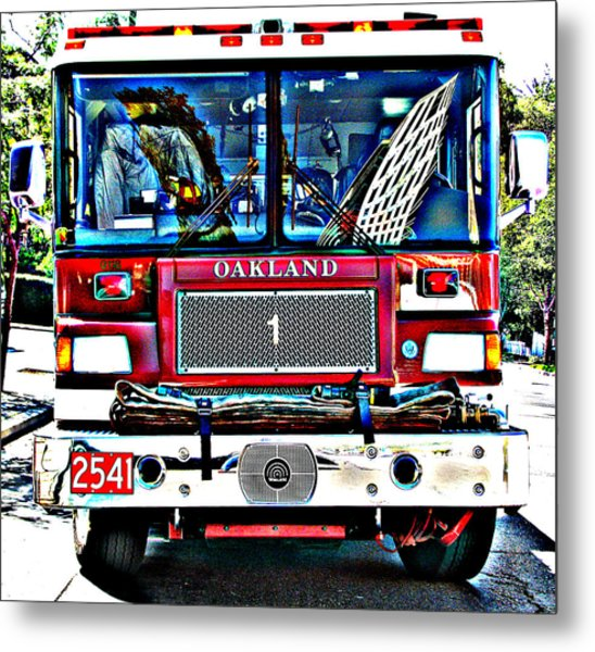 Fire Engine Study 1 Metal Print
