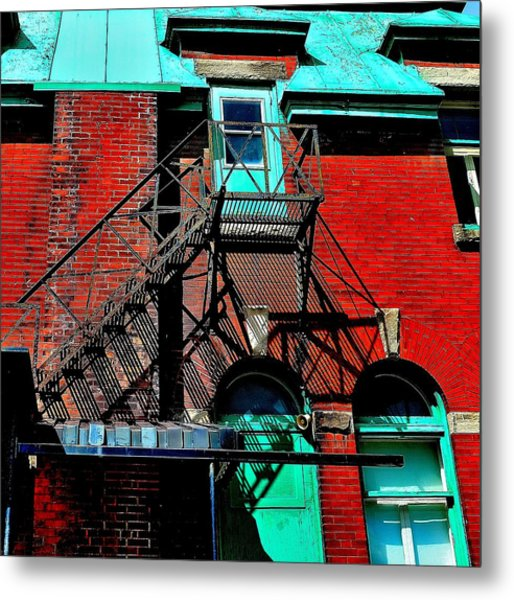 Fire Escape Imprints - Perspective 1 - Ontario - Canada Metal Print