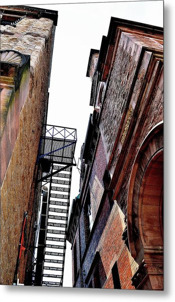 Fire Escape Pompous - Ontario - Canada Metal Print