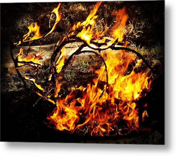 Fire Fairies Metal Print
