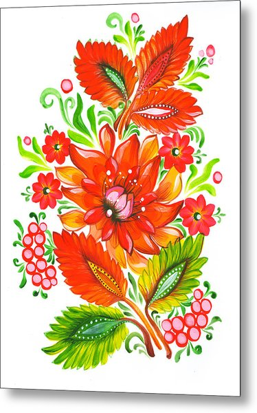 Fire Flower Metal Print