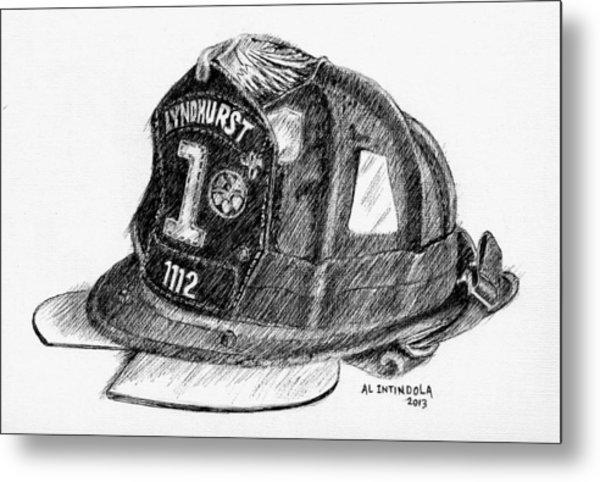 Fire Helmet Metal Print