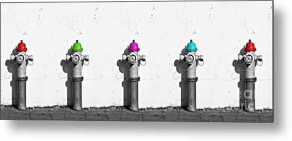 Fire Hydrants Metal Print