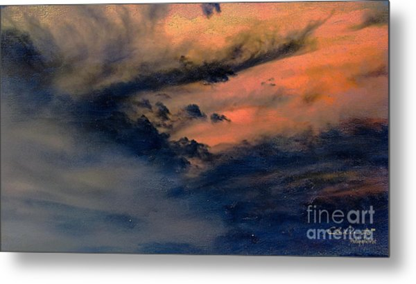Fire In The Hills Metal Print