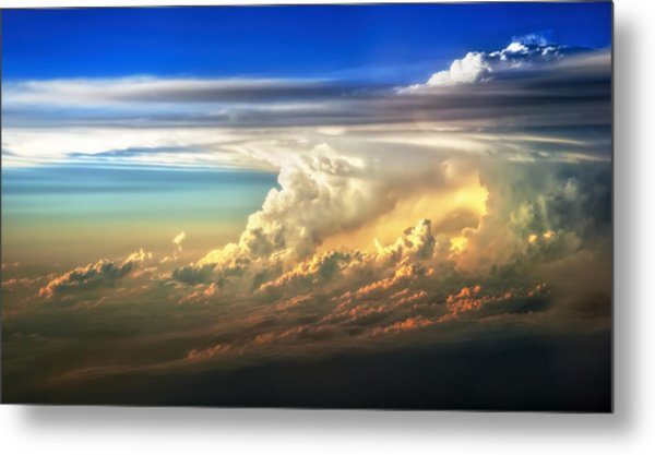 Fire In The Sky From 35000 Feet Metal Print