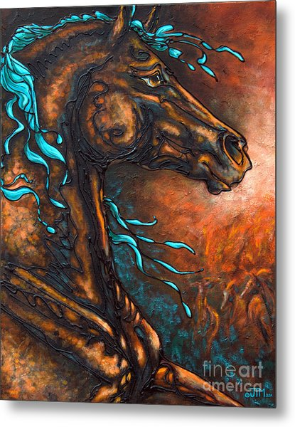 Fire Run Metal Print
