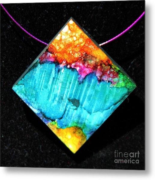 Fire Sky Necklace Metal Print