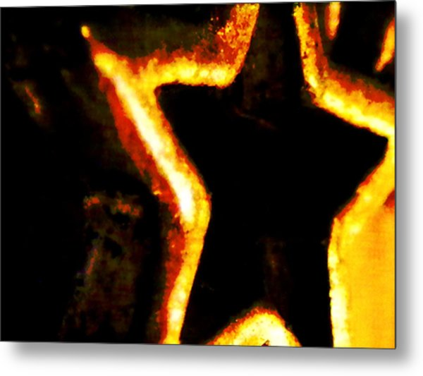 Fire Star Metal Print by Rebecca Flaig