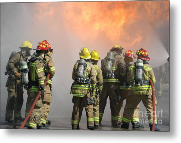 Fire Training  Metal Print by Steven Townsend
