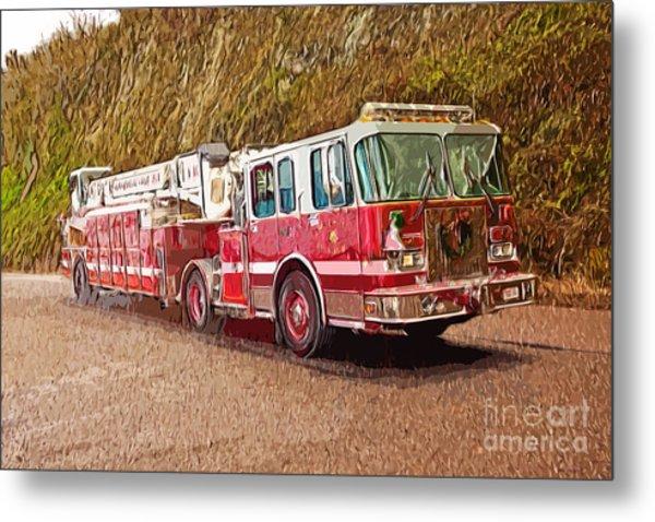 Fire Truck Ladder Unit. Metal Print