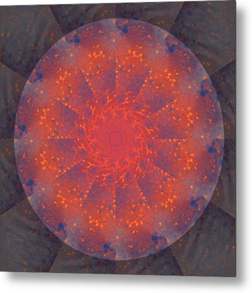 Fire Water Mandala Metal Print