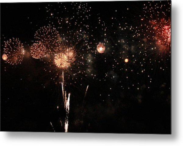Metal Print featuring the photograph Fire Work Display by Debbie Cundy