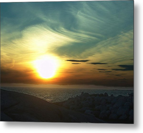 Fireball Descending Metal Print by George Cousins