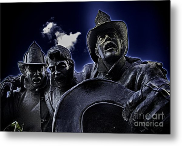 Firefighter Heroes Metal Print