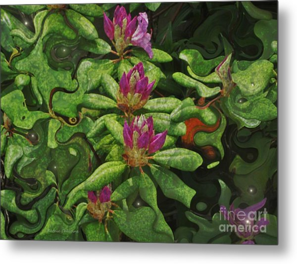 Fireflies And Flowers Metal Print
