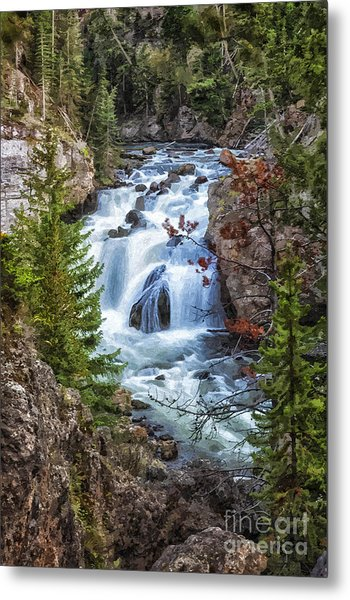 Metal Print featuring the photograph Firehole Falls by Sophie Doell