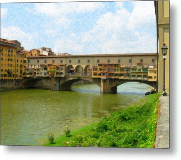 Firenze Bridge Itl2153 Metal Print