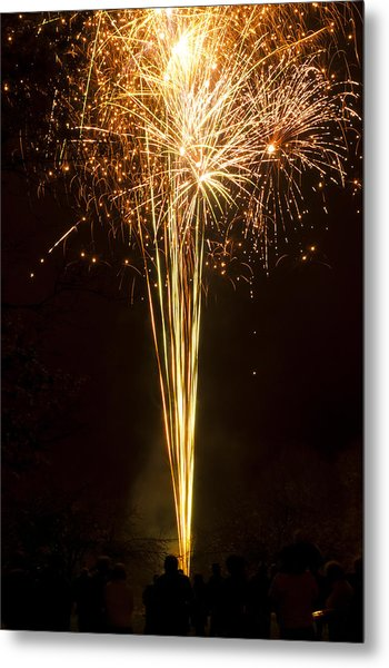 Firework Display Metal Print