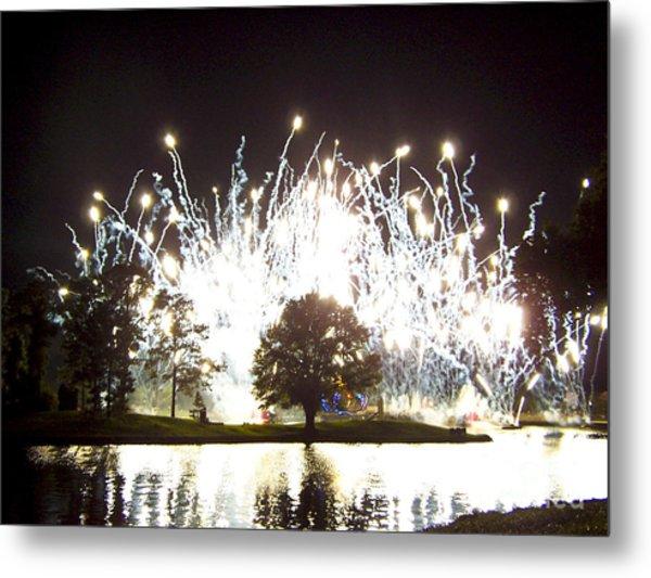 Fireworks At Epcot 2 Metal Print