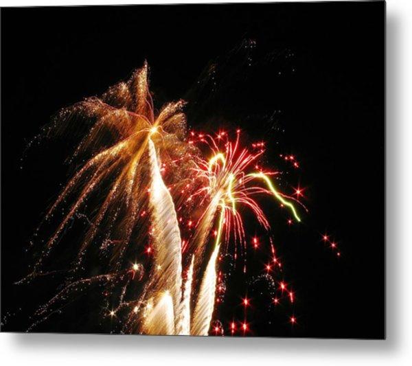 Fireworks On Display Metal Print by Steven Parker