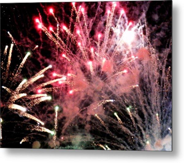 Fireworks  Metal Print by Paul Ganser