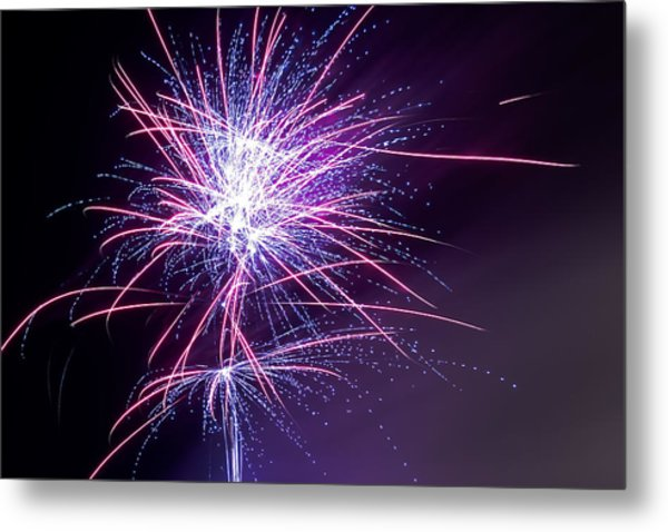 Fireworks - Purple Haze Metal Print