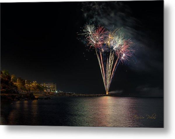 Fireworks San Lorenzo Al Mare 2013 1970 - Ph Enrico Pelos Metal Print
