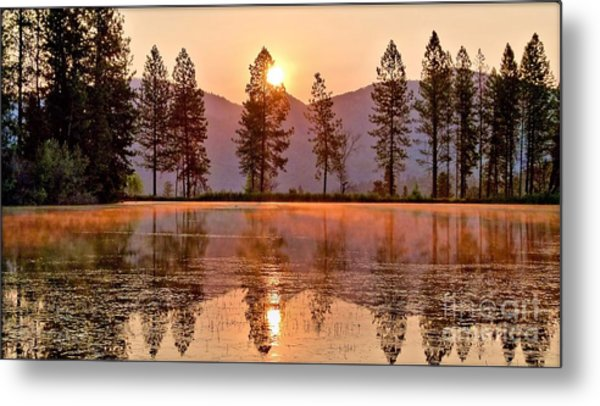 Firey Reflections Metal Print