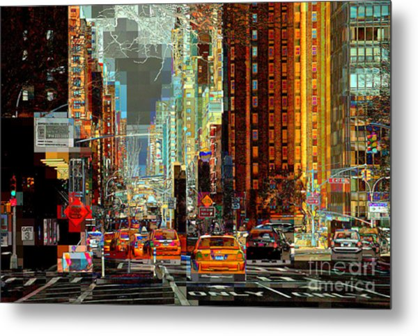 First Avenue - New York Ny Metal Print