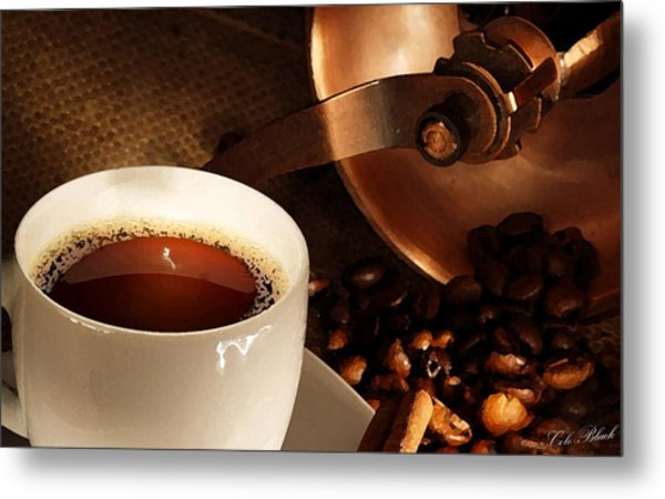 First Cup Of The Day Metal Print by Cole Black