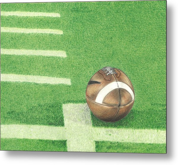 First Down Metal Print