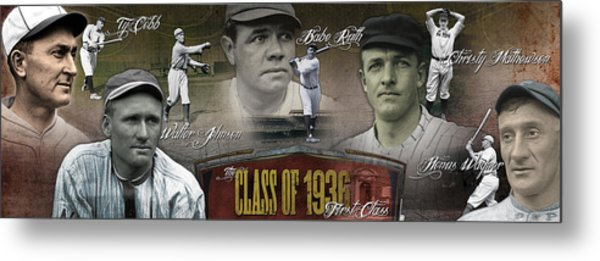 First Five Baseball Hall Of Famers Metal Print