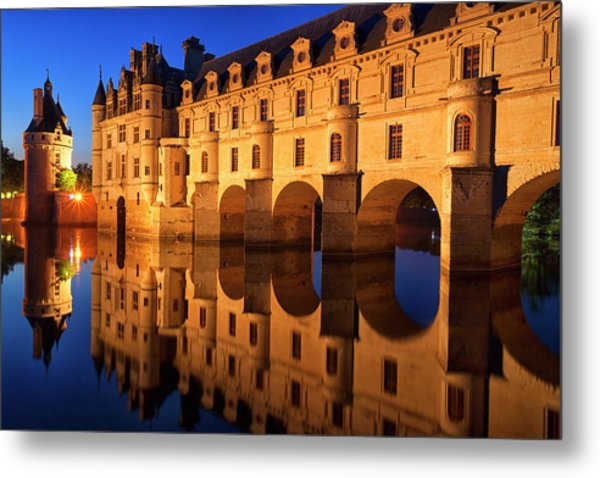 First Light Of Morning On Chateau Metal Print