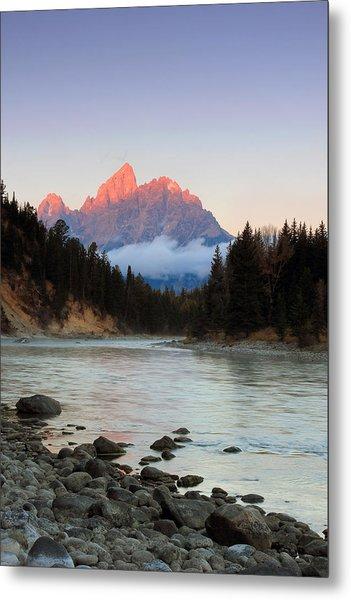 First Light On The Grand Teton Metal Print