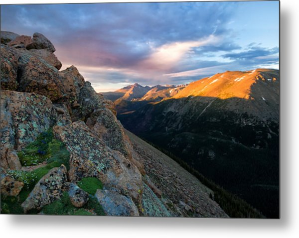 First Light On The Mountain Metal Print