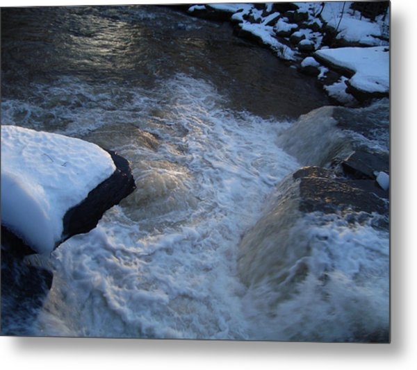 First Morning Light Dances On The Churn Of The Kaaterskill Metal Print by Zackary Jones