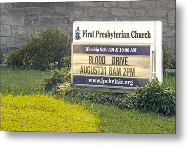 First Presbyterian Church Metal Print