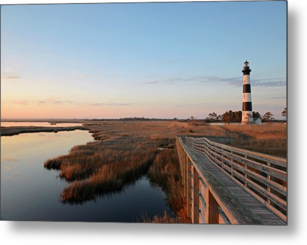 First Rays On Bodie Island Metal Print