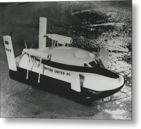 First Scheduled Hovercraft Service Planned For July Metal Print by Retro Images Archive