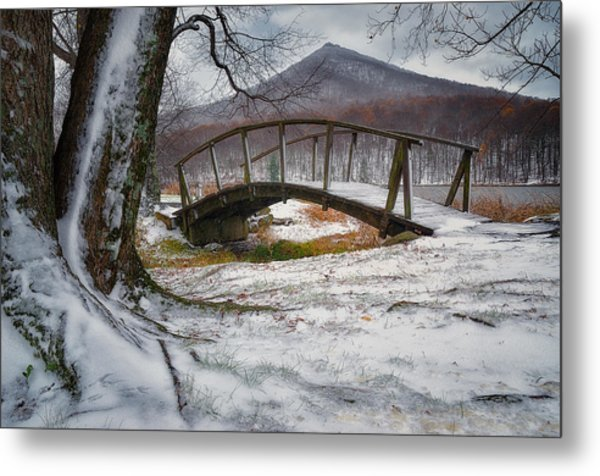 First Snow Of The Season Metal Print