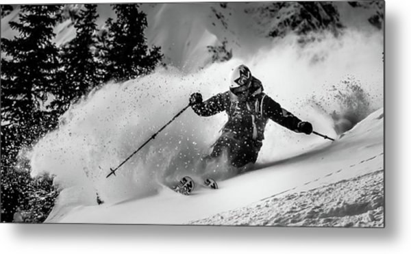 First Tracks.... Metal Print by Eric Verbiest