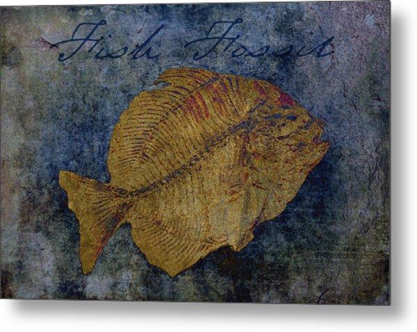 Fish Fossil Metal Print