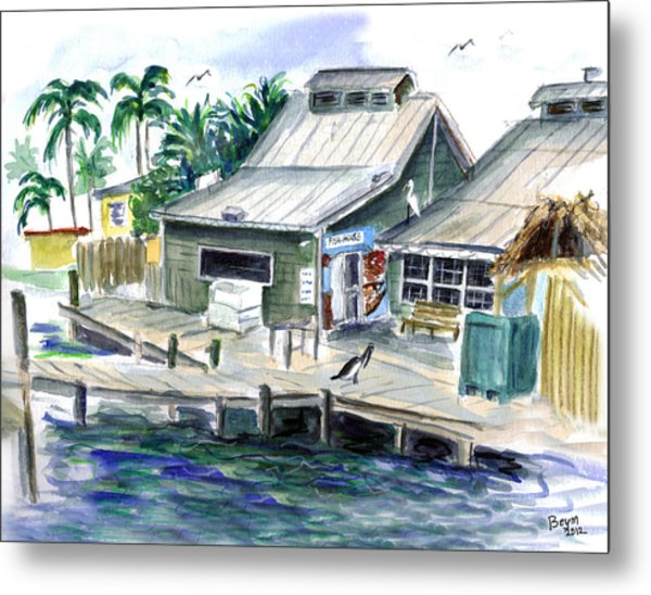Fish House Metal Print
