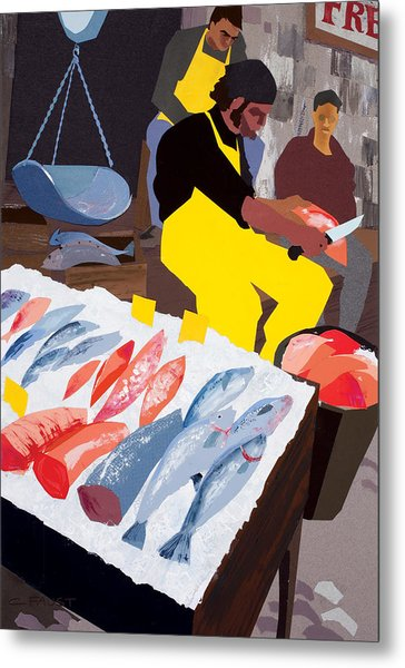 Fish Market Metal Print