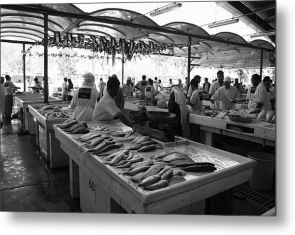 Fish Market In Dubai Metal Print by Maeve O Connell