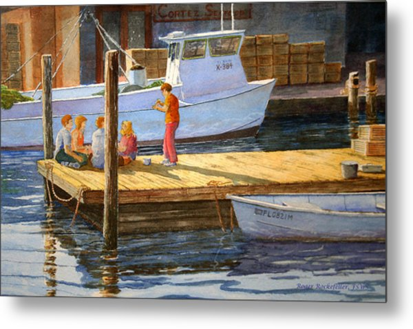 Fish Tales At Cortez Metal Print