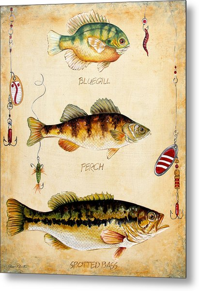 Fish Trio-c Metal Print