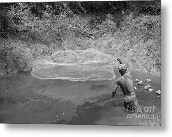 Fisher Man  Metal Print by Bobby Mandal