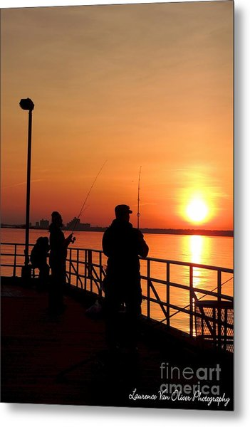 Fisher Sun Metal Print by Laurence Oliver